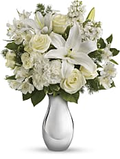 Shimmering White Bouquet Flowers